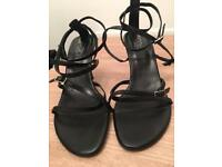 Black Strappy Sandals size 8