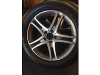 "Genuine Mercedes Benz 18"" alloys and new tires"