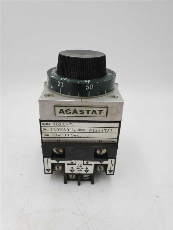 Agastat 7022AE, 20-200 seconds, 120v, 60hz Timing Relay