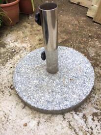 Granite parasol garden umbrella stand