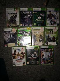 11 XBox 360 games bulk including GTA 5, COD, Fight Night, Fifa