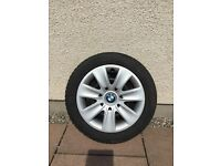 """BMW 16"""" Dunlop run flat winter tyres"""
