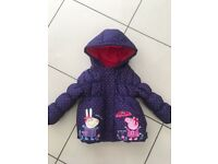 Peppa Pig and friends girls coat aged 1.5-2 years