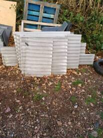 Corrugated fibre cement sheets, roofing, sheds