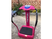 Crazy fit vibration plate. Pink. Strong vibration from inside out.