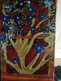 Mixed medium canvas multi coloured