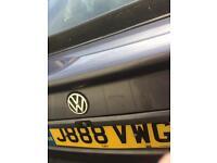 Reg plate for volkswagen golf