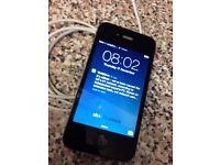 Apple iPhone Smartphone 4 Black Vodafone UK 8GB Good Condition + USB