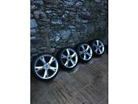 19inch A5 Alloy Wheels x4 New Tyres 5x112