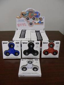 New, Fidget Spinners in Black, Blue, Red & White