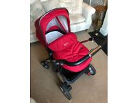 Silver Cross Pioneer Pushchair Seat, Chassis and Carrycot - Excellent Condition, Barely Used