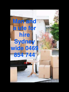Man and ute for hire Liverpool Area Preview