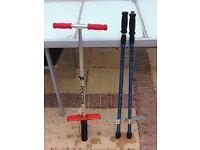 Children's stilts and pogo stick age 8-12