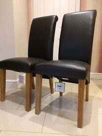 4 x Harvey's NEW Darcy Dining Chairs, Dark Brown