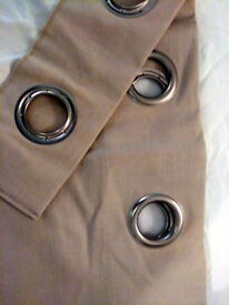 Set of high-quality curtains with chrome eyelets (almost new)