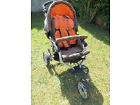"PUSH CHAIR/ BUGGY ""JANE SLALOM PRO"" & JANE ""MATRIX CUP"" CARRY COT INC.FREE ACTIVITY CHAIR"