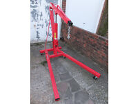 Engine Crane, 2 Ton. Folds for storage. Excellent Condition, only used twice