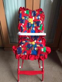 Dolls highchair and ironing board