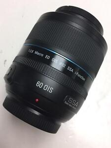 Samsung Macro 60mm f/2.8 ED OIS SSA i-Fuction lens like new used for one wedding with 90 days warranty