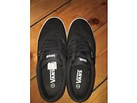Black vans UK 7.5 US 8.5