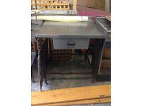 Used 1 Stainless steel table with draw