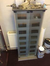 Cd cabinet glass door storage