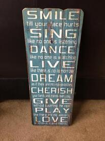 Wooden Sign - Shabby Chic