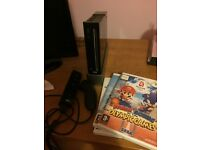 Black Nintendo Wii with 3 Games