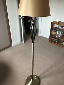Brass Lamp Standard with Shade