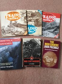 """Railway Books. """"Trains in Trouble"""" volumes 1, 2 and 3"""