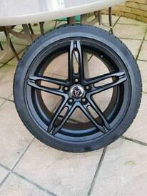 18' wolfrace alloys to bmw 3 series fit with winter tyres