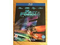 Fast & Furious 1-4 Bluray boxset (not digital copies)