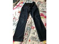 Size 8 over bump maternity jeans