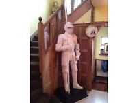 7FT TALL MEDIEVAL KNIGHT STATUE