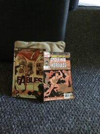 Vertigo graphic novel legends in exile and marvel superman and hercules