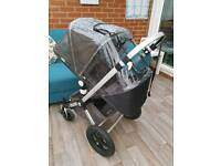 Bugaboo Cameleon Pushchair Pram with Seat Liner & Raincover. Smoke Free. Can Post