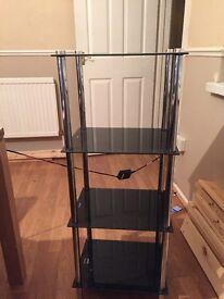Glass 3 tier unit