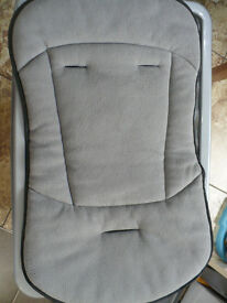 Mothercare Puschair liner in grey/black