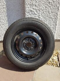 5 Stud spare steel wheel