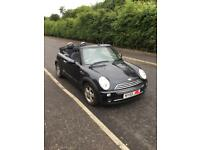 Black mini one convertible 2006