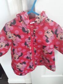 9-12 month Minnie Mouse lightweight jacket