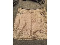 Gold sequinned skirt 12