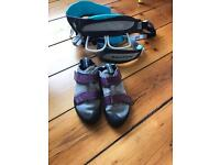 Children's climbing harness and shoes