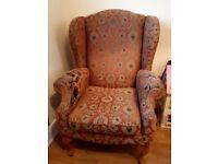 Vintage damask armchair