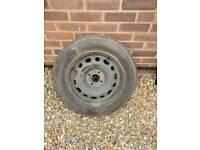 Vw Steel Wheel With Near On New Michelin Tyre