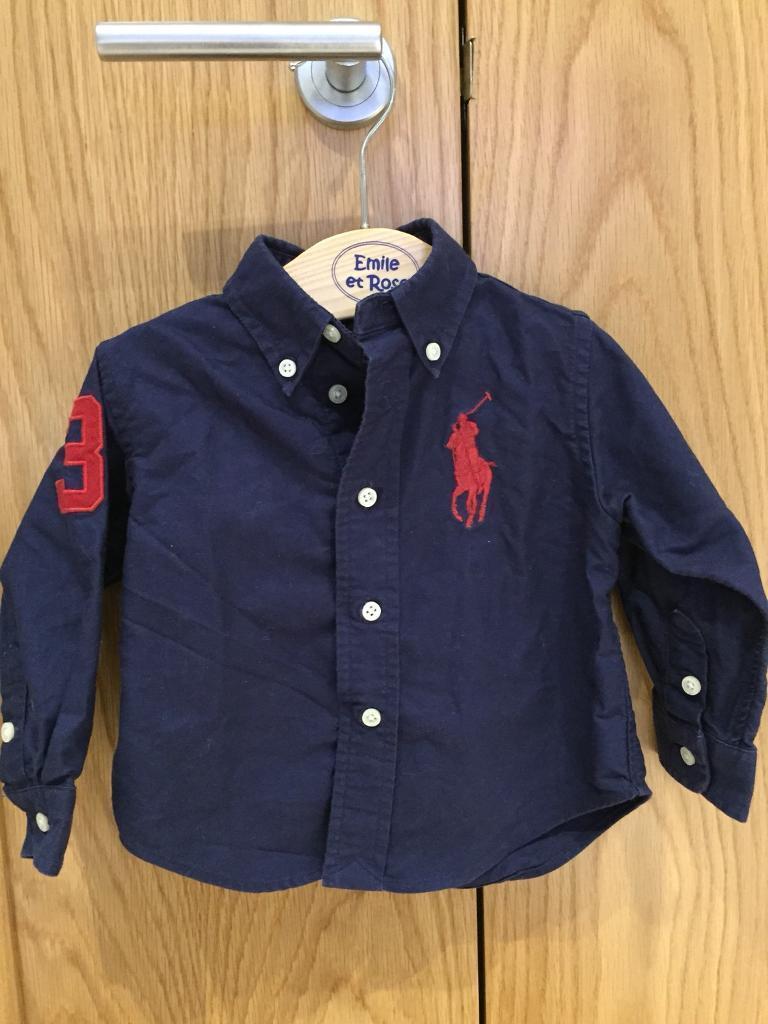 Baby boy Ralph Lauren shirt. Navy blue with