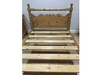 Pine Double Bed Good Quality