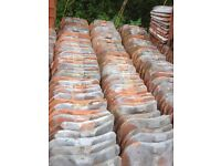 Suffolk Red Clay Pantiles aprox 150 tiles perfect for outbuilding or shed