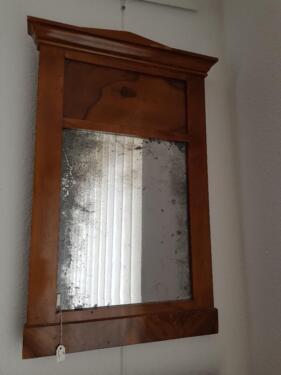 Biedermeier Spiegel kleiner biedermeier spiegel nussbaum in hessen - bad vilbel | kunst