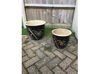 Ceramic plant pots large